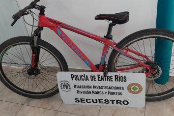 Recuperaron una bicicleta que habían sustraído