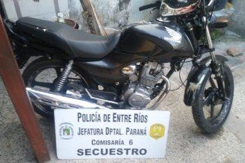 Secuestraron una moto e iniciaron una causa por resistencia a la autoridad