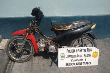 Secuestraron una moto sin patente