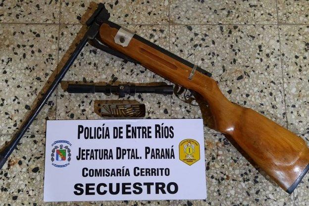 Detuvieron a un hombre y secuestraron un aire comprimido en Cerrito