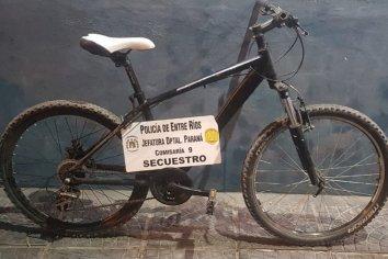 Secuestraron una bicicleta presuntamente robada