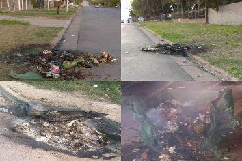 Durante la madrugada de este martes quemaron tres contenedores en Paraná