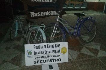 Recuperaron dos bicicletas que habían sido sustraídas por un menor de edad