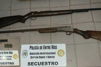 Secuestraron armas y elementos de albañilería en Sauce Montrull