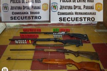 Allanamientos con secuestros de armas