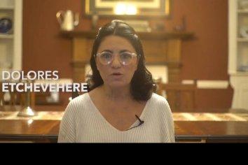Dolores Etchevehere denuncia amenazas e interpela a García y a Bordet