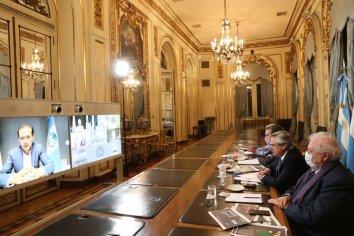 Fernández mantuvo una reunión virtual con gobernadores