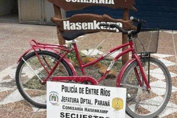 Recuperaron una bicicleta que había sido sustraída