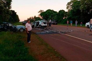 Triple choque en la Ruta 14 deja como saldo tres personas fallecidas