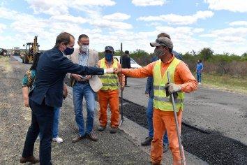 Bordet y Arrieta recorrieron obras viales en Entre Ríos en las que se invierten cerca de 10.000 millones de pesos