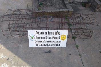 Dos delincuentes robaron una malla sima que funcionaba como perímetro del anfiteatro