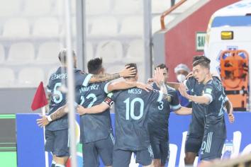 Con goles de Nicolás González y Lautaro Martínez, Argentina le ganó a Perú en Lima
