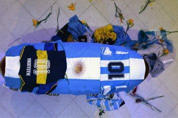 El pueblo despide a Maradona en Casa Rosada