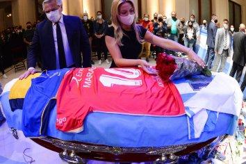 El Presidente despidió los restos de Diego Maradona