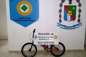 Recuperaron una bicicleta que habían sustraído del patio de una vivienda