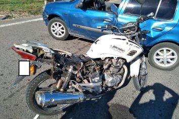 Accidente en el cruce de la Ruta 12 y Avenida Jorge Newbery