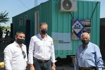 Bahl recorrió la empresa de construcción Med Container