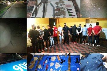 Once personas fueron detenidas tras agredir al personal policial