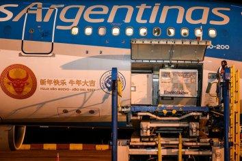 Llegó al país una partida de 904 mil vacunas Sinopharm, provenientes de China