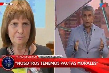 Patricia trastabilló en TN al defender el envió de vacunas a la clínica de Moyano