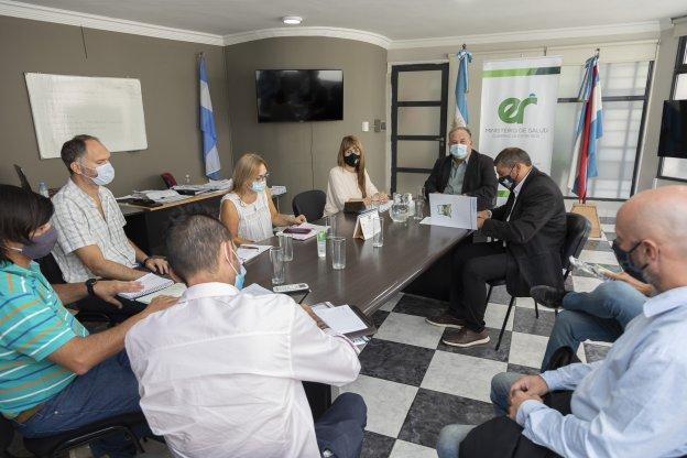 Salud se reunió con autoridades de Pueblo Liebig del departamento Colón