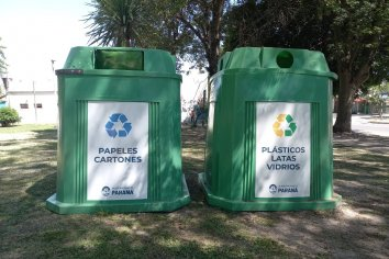 Paraná cuenta con 50 campanas-contenedores para recolectar materiales reciclables