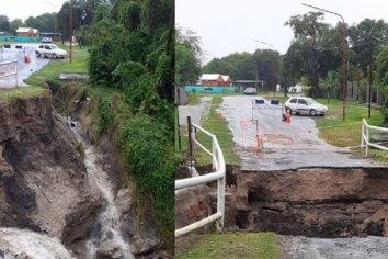 Por las intensas lluvias, colapsó el puente de acceso al camping Pirayú