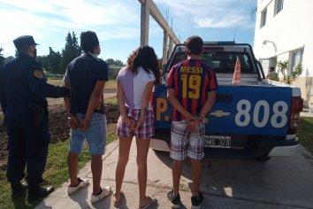Tres detenidos por el robo de un secarropas