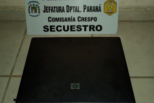 Robaron una notbook de un área de la Municipalidad de Crespo