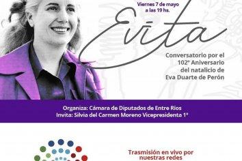 Conversatorio por el aniversario del natalicio de Eva Duarte de Perón