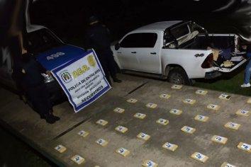 Encontraron más de 40 kilos de cocaína en un campo de la zona rural del departamento Uruguay
