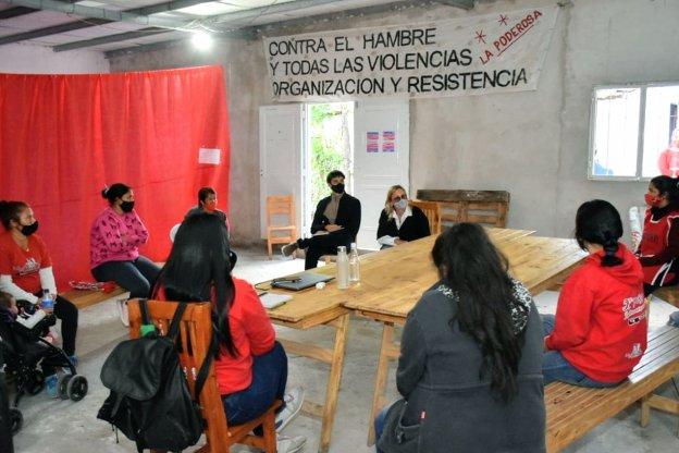 Desarrollo Social junto a Fortalecimiento de las Organizaciones sociales visitaron un merendero