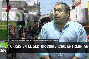 """Quiroga: """"400 comercios cerraron entre el micro y macrocentro""""."""