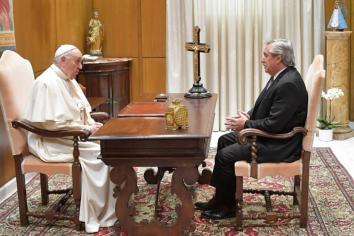 El Presidente se reunió a solas con el papa Francisco en el Vaticano durante 30 minutos