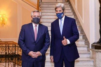 Alberto Fernández se reunió con el ex secretario de Estado de los Estados Unidos John Kerry