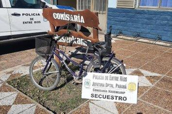 Hallaron una bicicleta abandonada