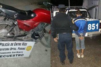 Sustrajo una moto y fue identificado por las cámaras de seguridad