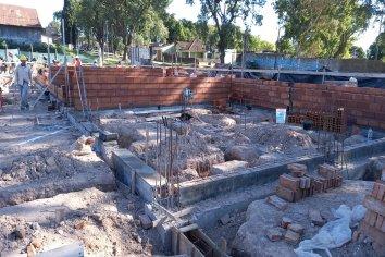 Avanza la construcción del nuevo edificio para la escuela Bazán y Bustos de Paraná