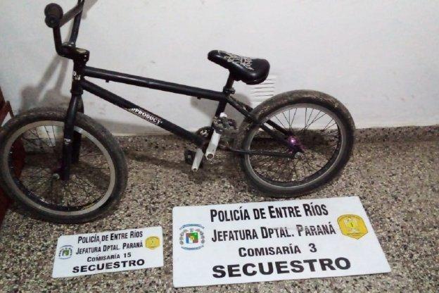 Dos allanamientos por el robo de una bicicleta