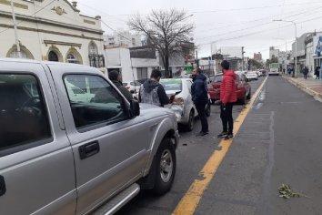 Choque en cadena en calle Gualeguaychú