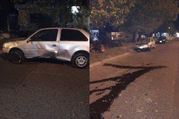 Tras la rotura de la dirección, chocó con su vehículo