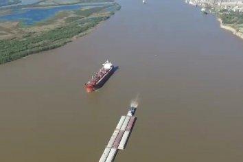 Hidrovía: Entre Ríos pide garantizar el dragado de los canales de acceso a los puertos de la provincia