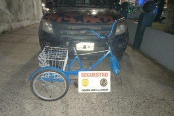 Recuperaron una bicicleta sustraída