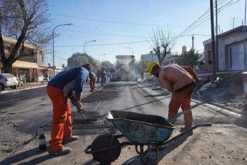 La obra integral de calle Rondeau tiene un avance del 85 %