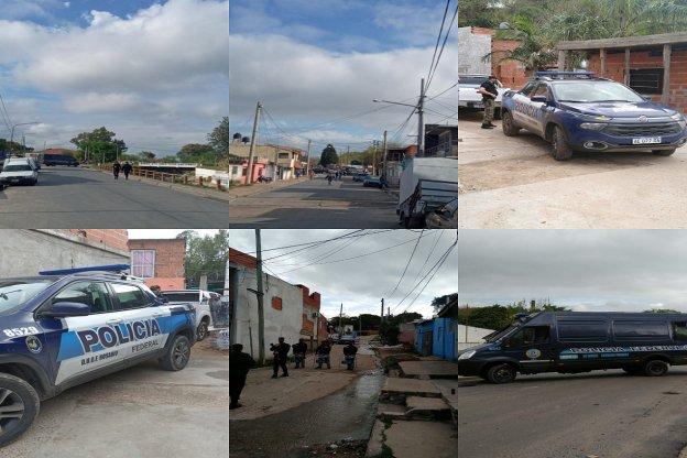 Tres detenidos tras mega Operativo de la policía federal en el barrio Puerto Viejo