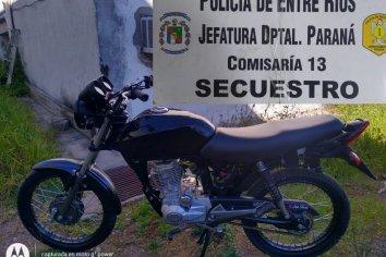 En un operativo de rutina retuvieron una moto que estaba adulterada