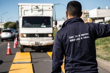 Realizan operativos de control de cargas en camiones