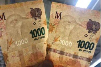 Se venden por $20.000 un billete de 1.000 pesos con una falla que pocos notarían