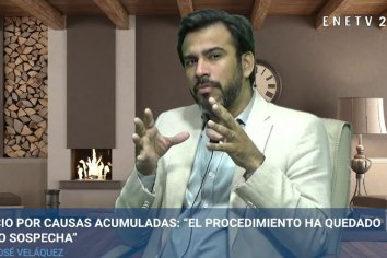 """Velázquez y el """"Megajuicio"""" por corrupción: """"Hoy es el procedimiento el que está bajo sospecha"""""""