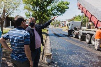 Continúa la recuperación de la trama vial en calles Mihura y Hernandarias